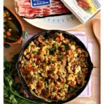 Have the Holidays YOUR way with Mexican-Style Sausage, Bacon, and Eggs. It's a tasty breakfast idea. Incredibly easy-to-make and full of yummy flavors. By Mama Maggie's Kitchen