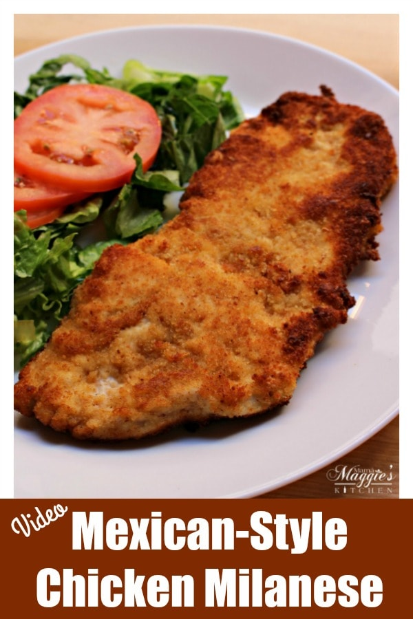 Milanesa de Pollo is a yummy and quick weekday meal. This chicken recipe comes together in less than 30 minutes. Watch the VIDEO or see the step-by-step pictures below and learn to make this dish for your family. By Mama Maggie's Kitchen