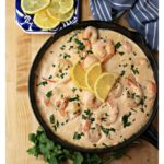 Camarones en Crema Chipotle are juicy, large shrimp in a creamy chipotle sauce. This Mexican seafood recipe is absolutely delicious and ready in under 30 minutes. Recipe with VIDEO. By Mama Maggie's Kitchen