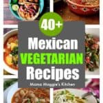 Spice up your menu plan with these Mexican Vegetarian Recipes. Whether you are watching your weight, celebrating Meatless Monday, or simply want more variety in your meals, these recipes are sure to inspire you. By Mama Maggie's Kitchen