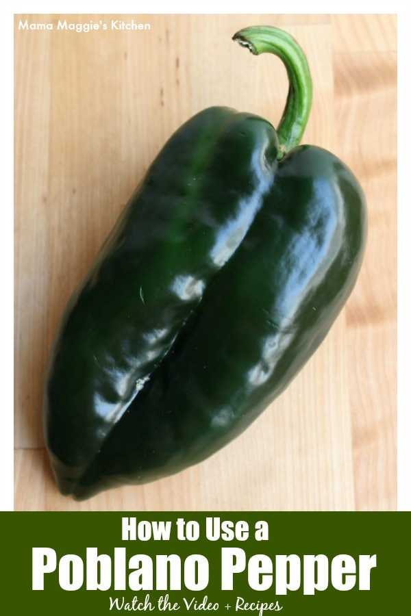 To cook authentic Mexican food, you need to know how to use a poblano pepper. Learn how to roast and use one of Mexico's beloved and popular chile pepper. By Mama Maggie's Kitchen