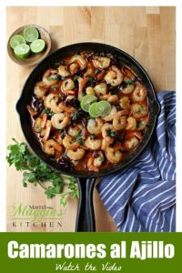 "Camarones al Ajillo is a tasty Mexican dish that comes together in a snap. Juicy, plump, and succulent shrimp swimming in a savory chile sauce. You'll have everyone saying ""Muy Bueno."" Recipe with VIDEO. By Mama Maggie's Kitchen"