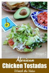 Tostadas de Pollo (Chicken Tostadas) are a great way to use up leftovers. Mexican food that's easy-to-make and delicious to taste.Recipe with VIDEO. By Mama Maggie's Kitchen