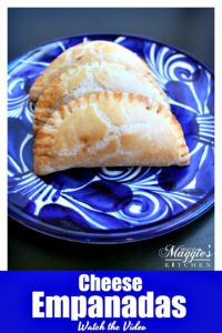 Cheese Empanadas (Empanadas de Queso) are tasty bites of deliciousness. They are an easy Mexican appetizer perfect for your next fiesta. Watch the Video. By Mama Maggie's Kitchen
