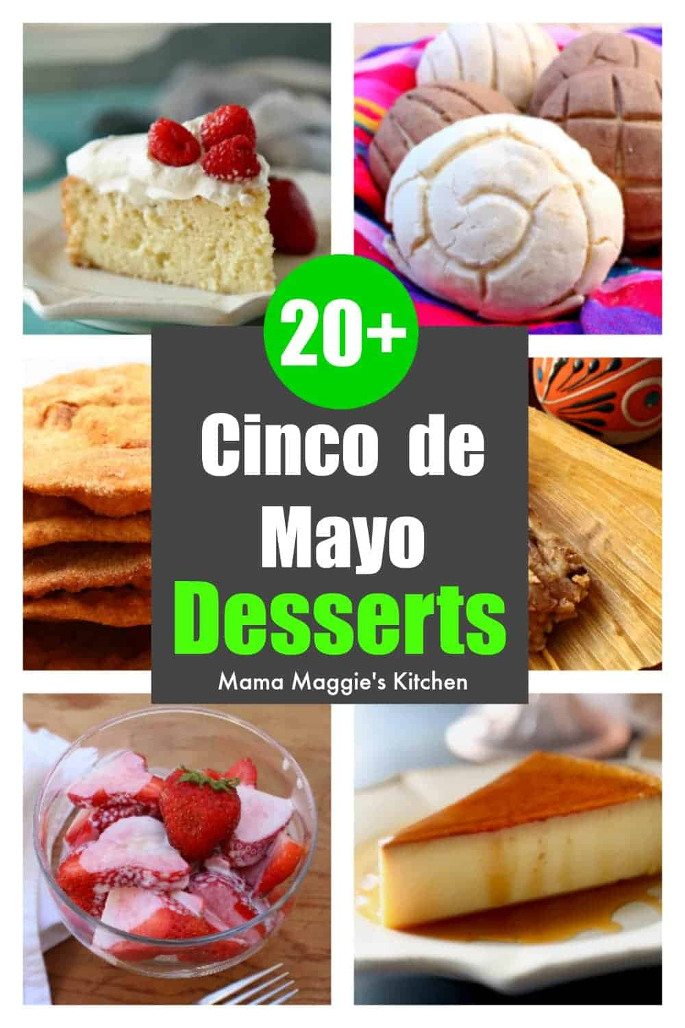A collage of over 20 cinco de mayo desserts.