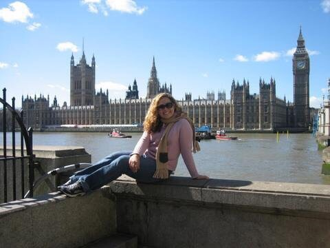 Maggie Unzueta with Big Ben in the background.