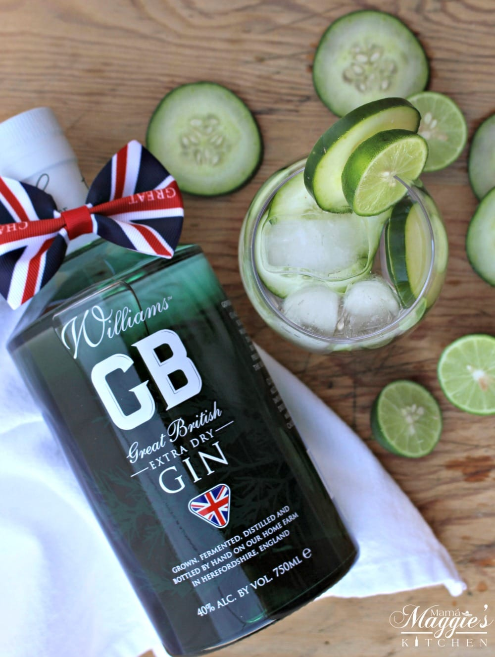 Williams Chase Great British Extra Dry Gin next to Cucumber Gin Cocktail