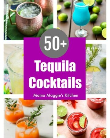 A collage of tequila cocktails