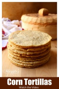 Graphic of a stack of Corn Tortillas.