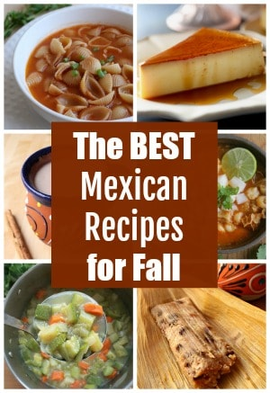 A collage of the best Mexican recipes for fall.