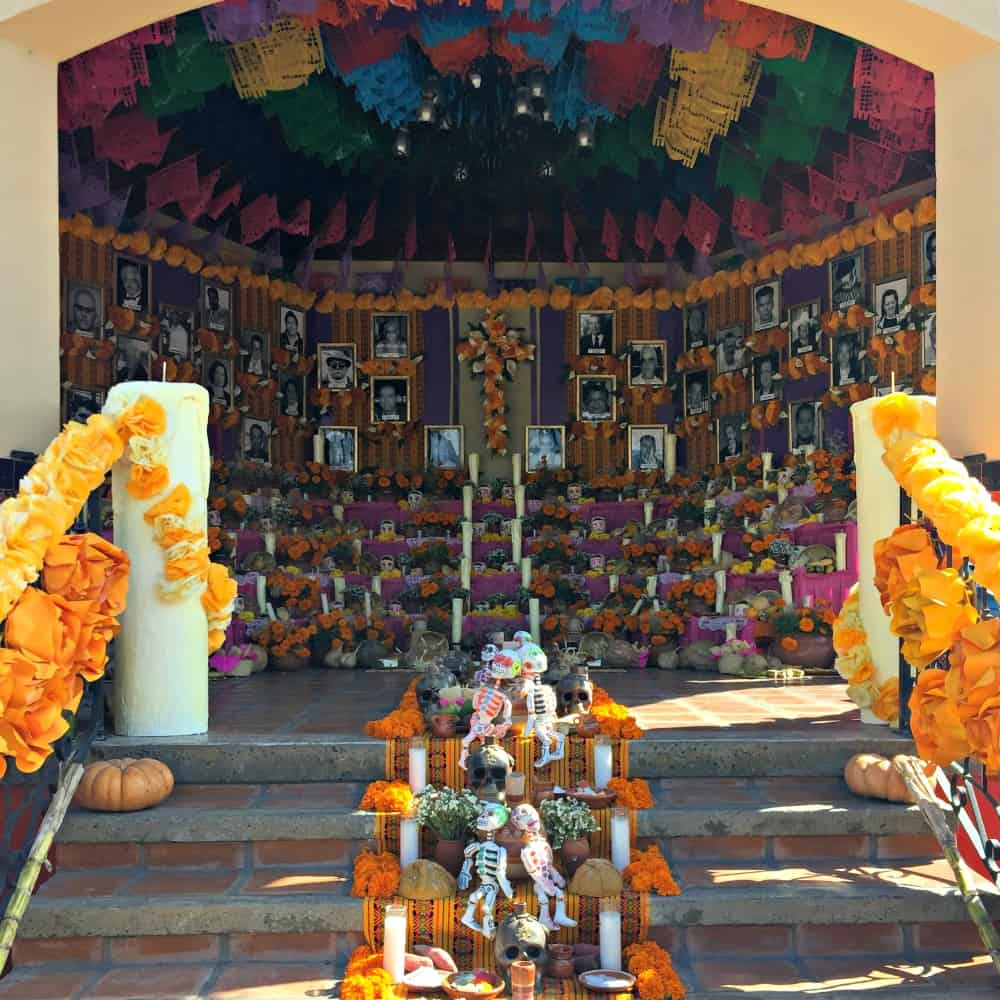 The Day of the Dead altar at the Mercado Hidalgo in Tijuana, Mexico.