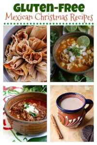 A collage of Gluten Free Mexican Christmas recipes.
