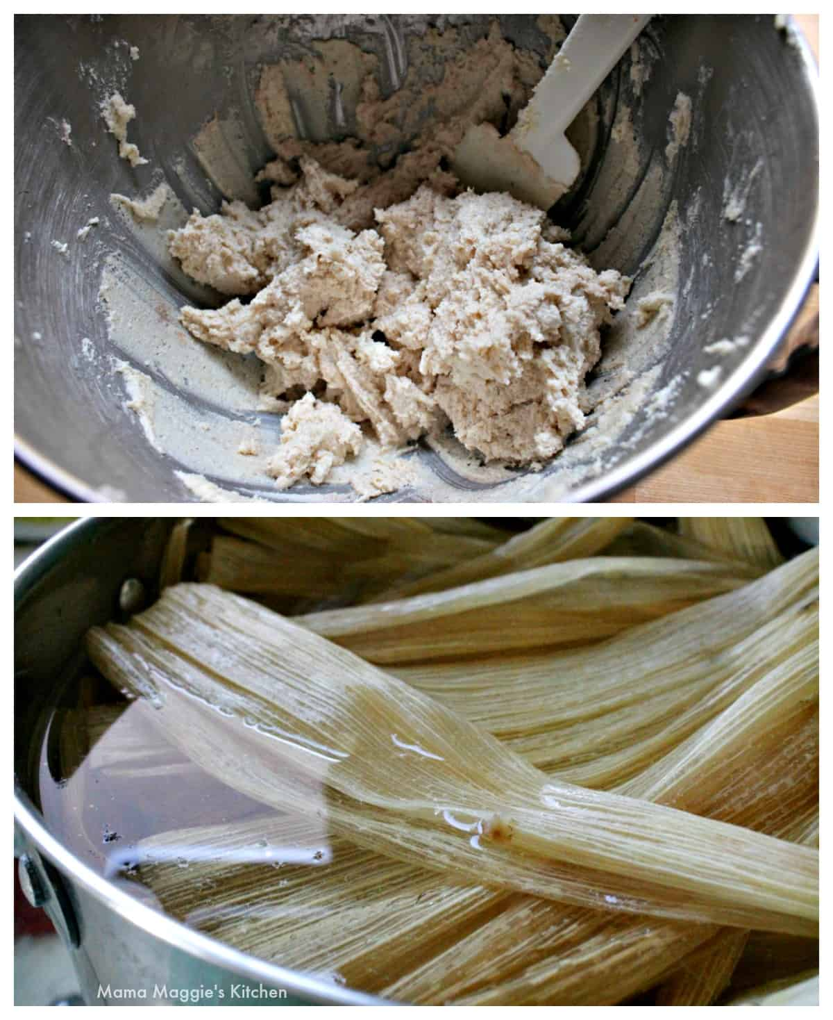"Make masa for tamale and soften corn husks. ""Width ="" 1200 ""height ="" 1468 ""class ="" lazy lazy hidden alignnone size-full wp-image-18357 ""srcset ="" ""srcset ="" https: // inmamamaggieskitchen. com / wp-content / uploads / 2020/04 / Masa-and-Corn-Husks.jpg 1200w, https://inmamamaggieskitchen.com/wp-content/uploads/2020/04/Masa-and-Corn-Husks-245x300 .jpg 245w, https://inmamamaggieskitchen.com/wp-content/uploads/2020/04/Masa-and-Corn-Husks-837x1024.jpg 837w, https://inmamaggieskitchen.com/wp-content/uploads/2020 /04/Masa-and-Corn-Husks-768x940.jpg 768w ""sizes ="" (max width: 1200px) 100vw, 1200px"