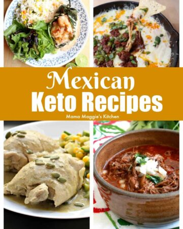 A collage showing several Mexican Keto Recipes.