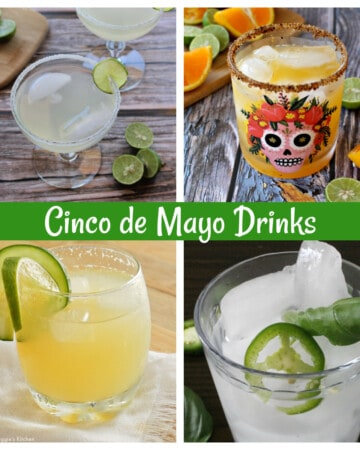 A collage featuring different Cinco de Mayo Drinks.